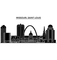 usa missouri saint louis architecture vector image vector image