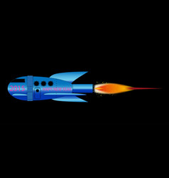 2015 cartoon rocket vector image
