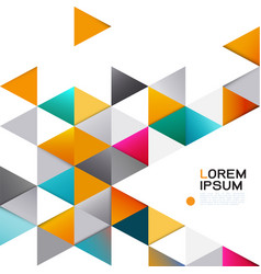 abstract colorful geometric template on white vector image