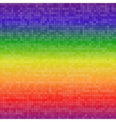 Abstract digital rainbow pixels seamless pattern vector image