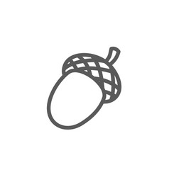 acorn fruit oak line icon vector image