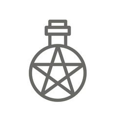 alchemy symbol icon spiritual concept vector image
