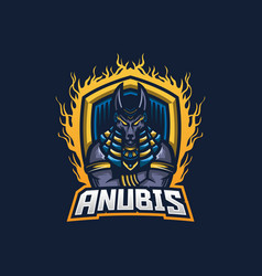 anubis esport gaming mascot logo template for vector image
