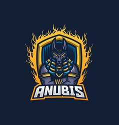 Anubis esport gaming mascot logo template vector