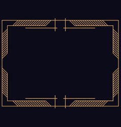 art deco frame vintage linear border design a vector image