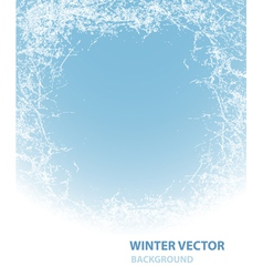 Background with rime for winter holiday vector image