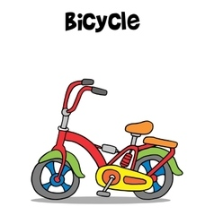Bicycle cartoon art vector