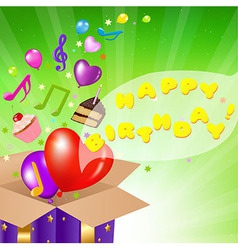 Birthday Card With Box vector