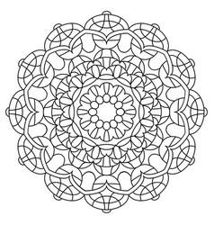 black and white mandala vector image