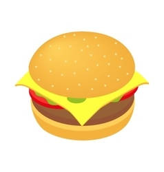 Burger isometric 3d icon vector image