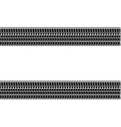 car tires tracks over white background vector image