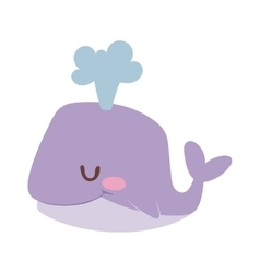 Cartoon whale vector image