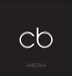 cb initial letter split lowercase logo modern vector image