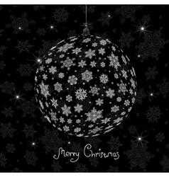 christmas ball silhouette vector image