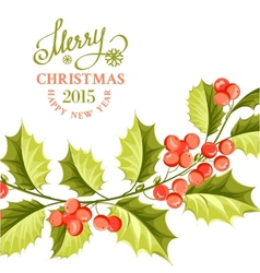Christmas mistletoe brunch vector image
