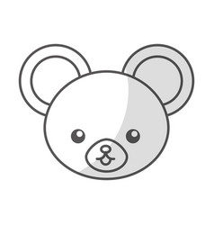 Cute shadow mouse face cartoon vector
