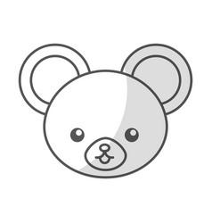 cute shadow mouse face cartoon vector image vector image