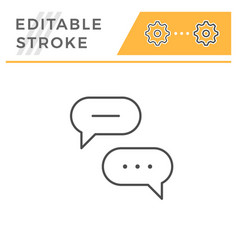 discussion line icon vector image