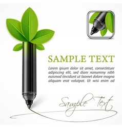 Ecology concept felt pen vector