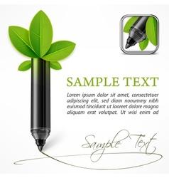 Ecology concept felt pen vector image