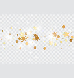 Falling stars tinsels and confetti background vector