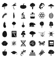 Fauna environment icons set simple style vector