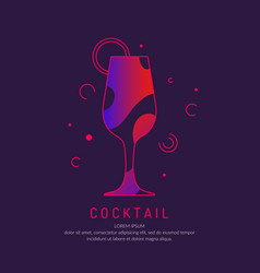 for bar menu alcoholic cocktail vector image