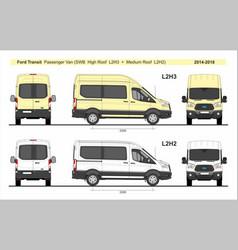 Ford transit passenger van l2h2 l2h3 2014-present vector