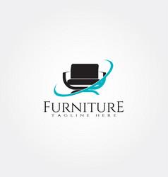 Furniture logo template seat icon design element vector
