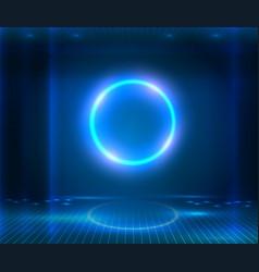 futuristic sci fi elegant modern neon glowing vector image