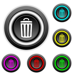 Garbage button set vector