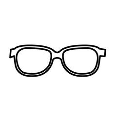 Glasses view isolated icon vector