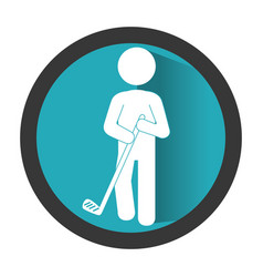 golfer athlete silhouette icon vector image