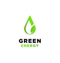 green energy logo design inspiration vector image
