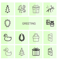 greeting icons vector image