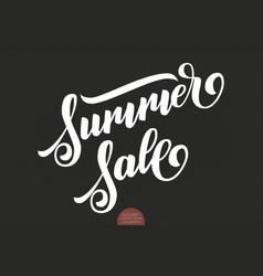 hand drawn lettering - summer sale elegant modern vector image