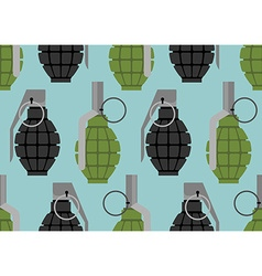Hand grenade seamless pattern Military munition vector image
