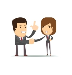 Handshake of business partners or people vector image
