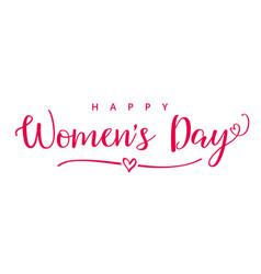 Happy womens day elegant calligraphy banner vector