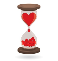 Hearts in sand clock vector