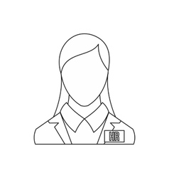 Hr management icon outline style vector