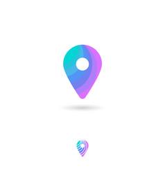 Icon map marker web pin symbol navigation vector