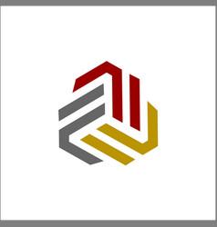 initials fff logo triple f logo vector image