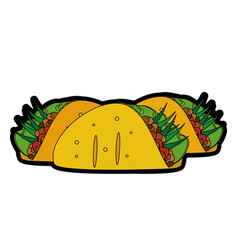 Isolated burrito design vector