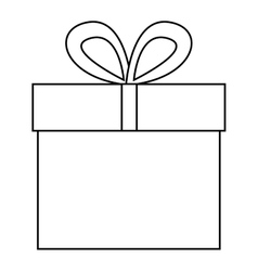Isolated gift box design vector