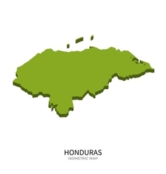 Isometric map of Honduras detailed vector image