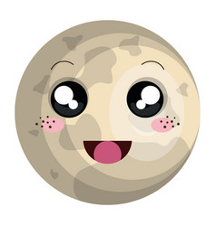 Jupiter planet kawaii character vector
