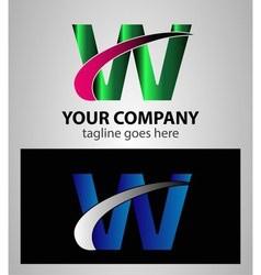 Letter W logo symbol design template elements vector