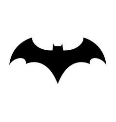 logo concept icon bat man dark knight vector image