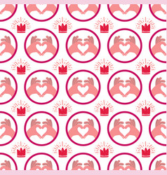 love seamless pattern vector image